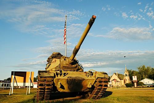 War Memorial, M60A3 tank - Westfield, Wisconsin