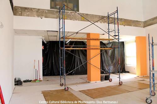 Obras de ampliación en el Centro Cultural Biblioteca de Montequinto