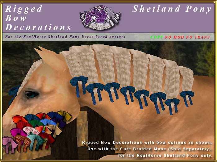 E-RH-Shetland-ManeSet-BowDecorationsCuteMane - TeleportHub.com Live!