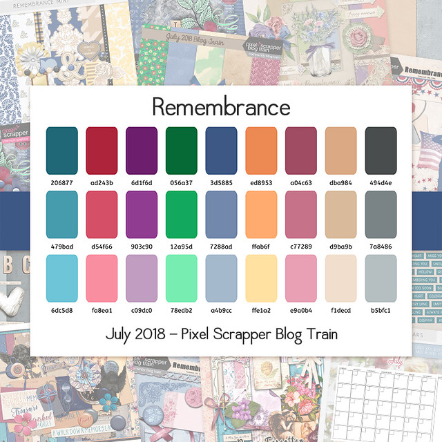 Pixel Scrapper July 2018 Blog Train