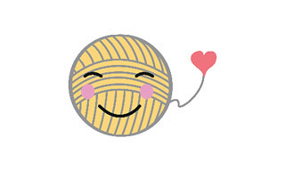 A knitting emoji from the Craftmoji app which unfortunately is not available to us in Canada
