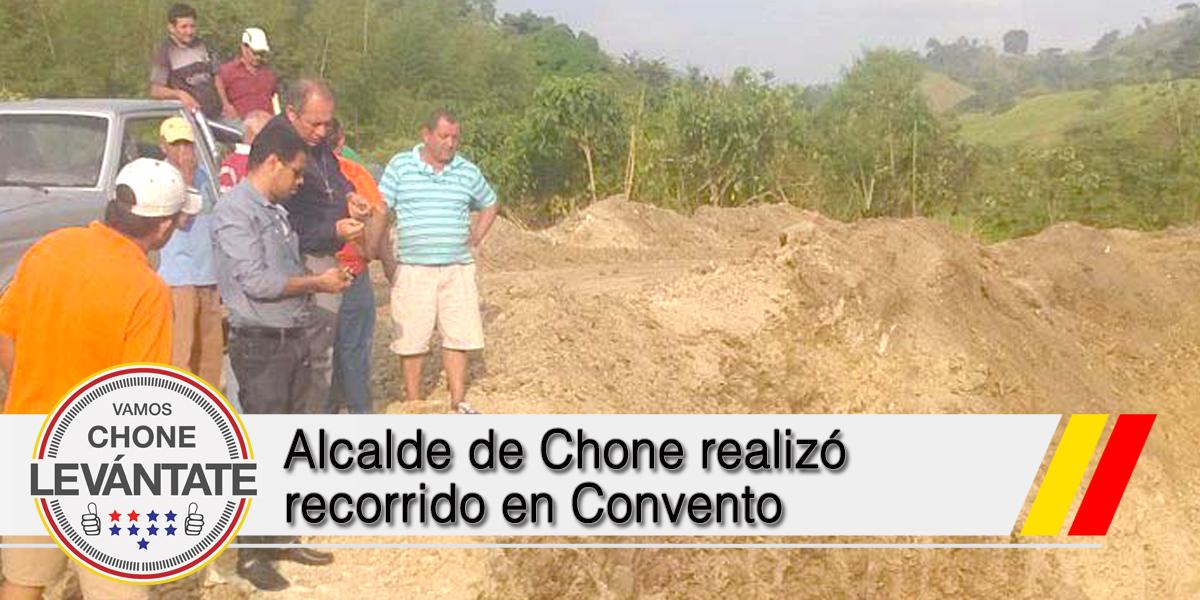Alcalde de Chone realizó recorrido en Convento