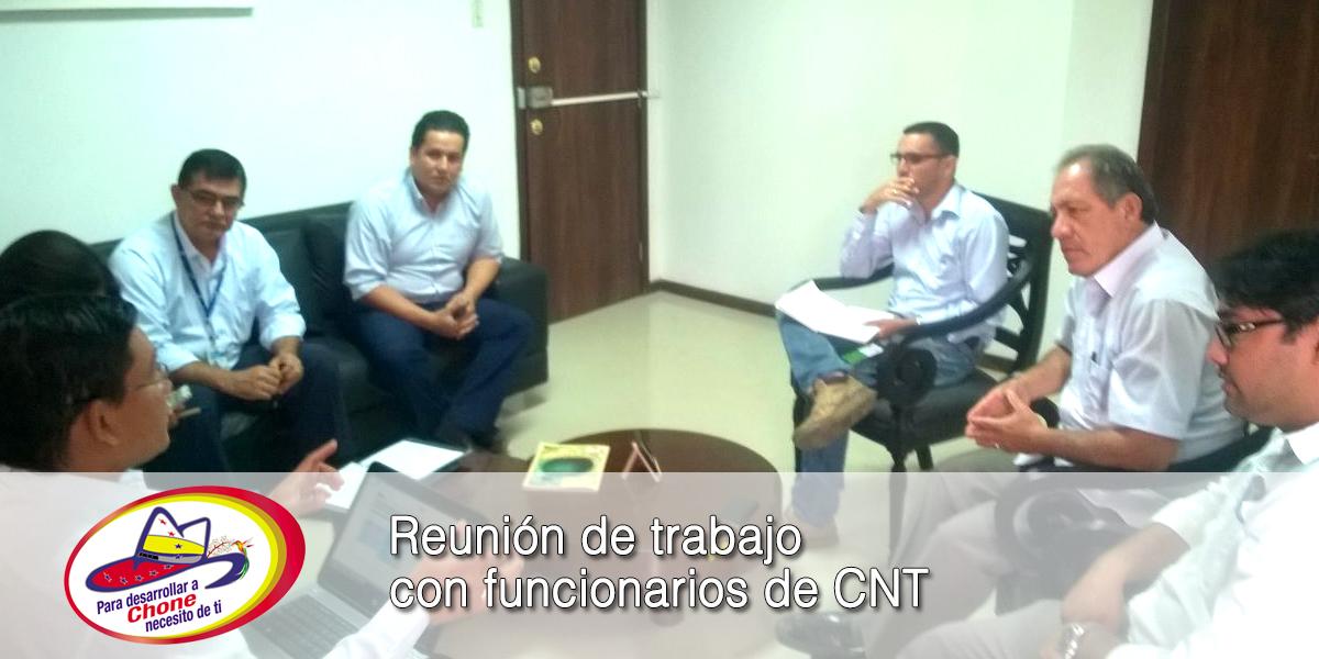 Reunión de trabajo con funcionarios de CNT
