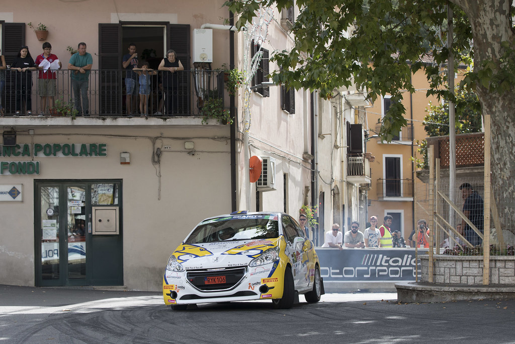 47 JOHANSSON Sebastian (swe), ELFVER Jesper (swe), Peugeot 208, action during the 2018 European Rally Championship ERC Rally di Roma Capitale,  from july 20 to 22 , at Fiuggi, Italia - Photo Gregory Lenormand / DPPI