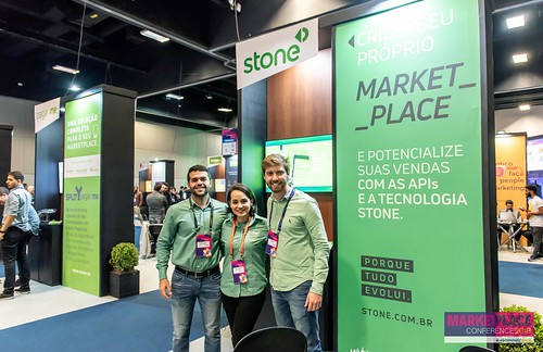 Estande STONE - E-Commerce Brasil - Marketplace Conference - 06 e 07/06/2018 - São Paulo - SP