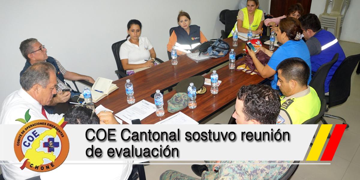 COE Cantonal sostuvo reunión de evaluación