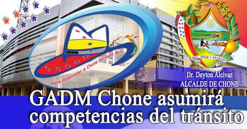 GADM Chone asumirá competencias del tránsito