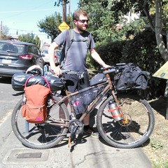 Paul stayed at the hostel for a couple nights. He's in the midst of a bike tour that started in BC and is heading south! #biketouring #bicycletouring #biketourist #adventurecycling @pack_your_teabags