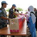 UNAMID peacekeepers hands over School materials  to students in East Darfur