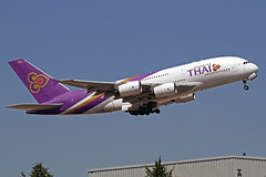 Thai Airways International Airbus A380-841 HS-TUA Si Rattana LHR 30-06