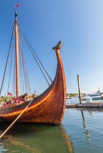 boothbayharbor maine draken drakenharaldharfagre vikingship