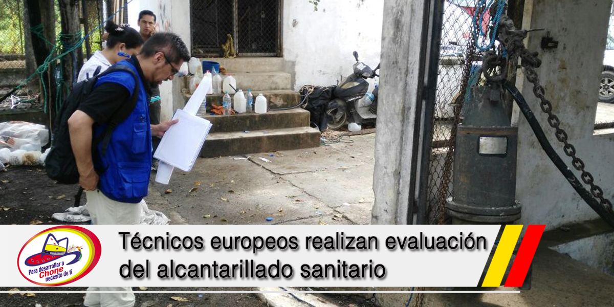 Técnicos europeos realizan evaluación del alcantarillado sanitario