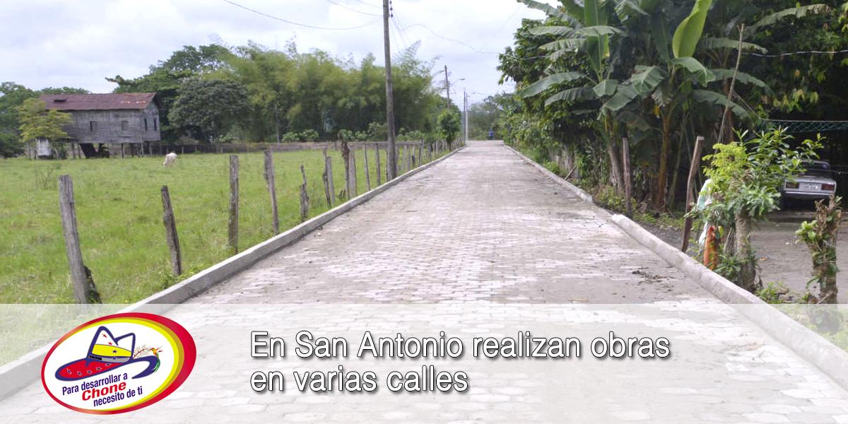 En San Antonio realizan obras en varias calles