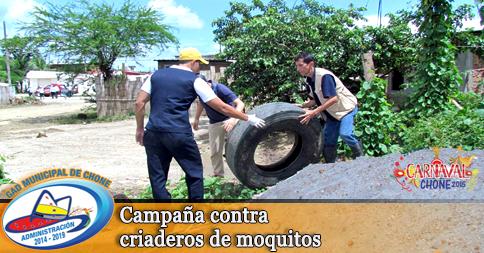 Campaña contra criaderos de moquitos