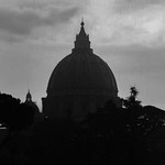 Basilica di San Pietro with heavy rain