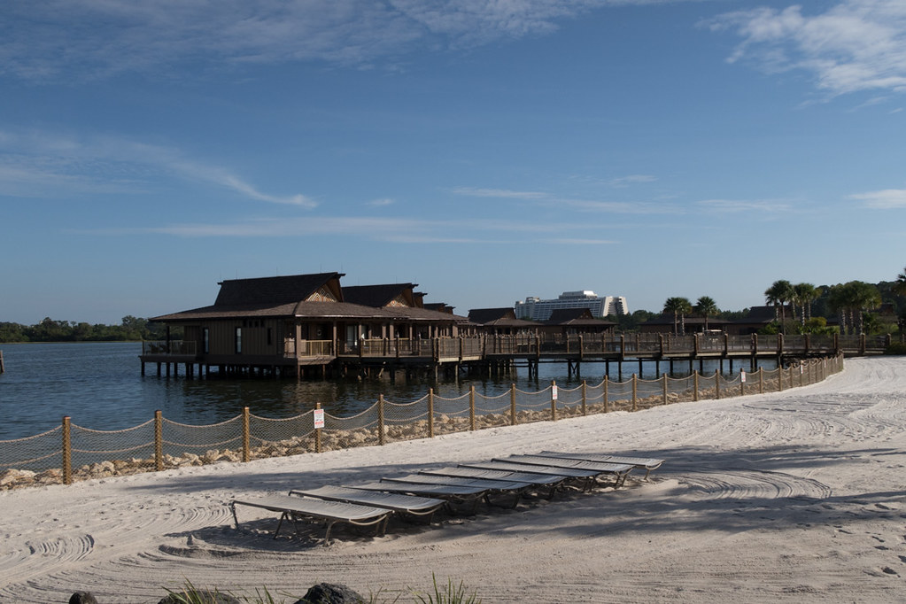 Overwater bungalows at Disney Polynesian Resort
