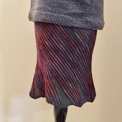 I have knit 2 Swirl Skirts ❤️ This was my second one!