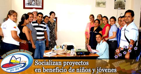 Socializan proyectos en beneficio de niños y jóvenes