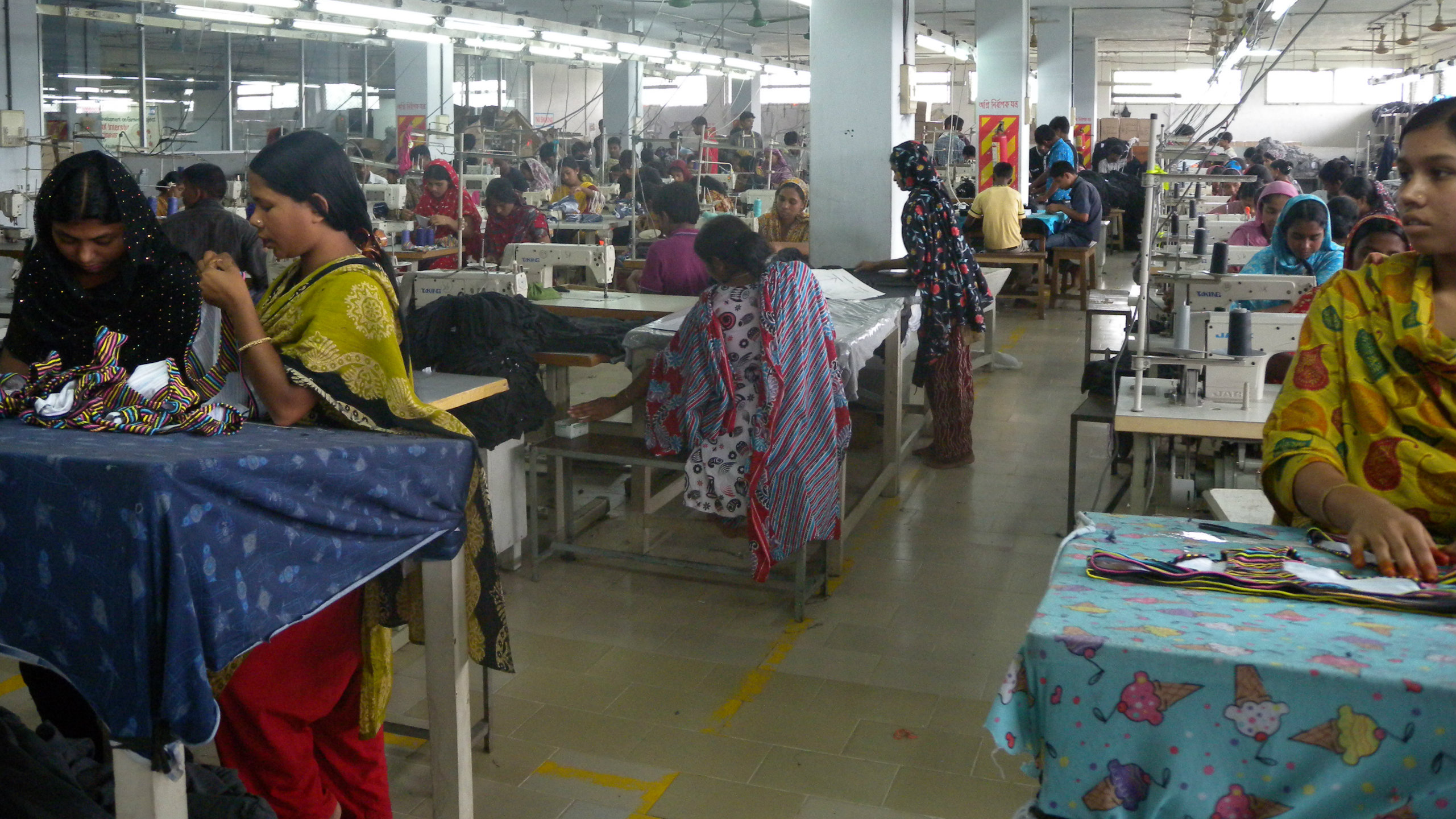 Women working in a garment factory in India