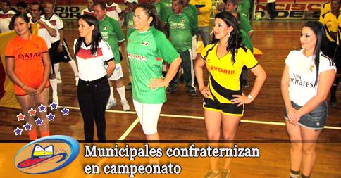 Municipales confraternizan en campeonato