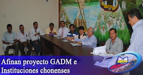 Afinan proyecto GADM e Instituciones chonenses