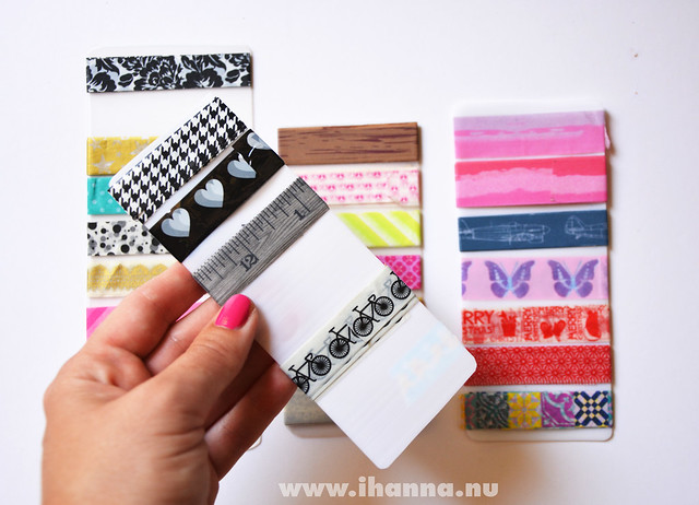 Washi tape sampler black-and-white