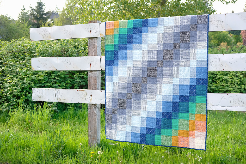 Echelon Quilt Pattern - A Super Simple Beginner Friendly Pattern by Kitchen Table Quilting