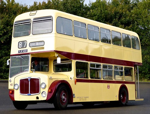 FJF 40D 'Leicester City Transport' No. 40. AEC Renown / East Lancs. /1 on 'Dennis Basford's railsroadsrunways.blogspot.co.uk'