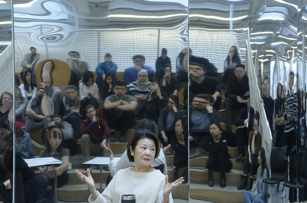 "On The Steps series event ""Toshiko Mori and Dasha Khapalova: The Making of Practice,"" Stepped Auditoruim, Milstein Hall."