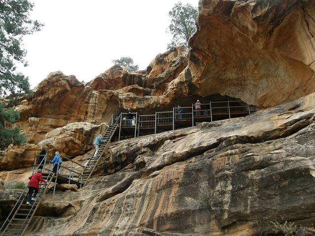 Stairway to Cave at Site 1 / Yourambulla Aboriginal Paintings, South Australia