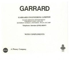 Garrard Compliments Early 70