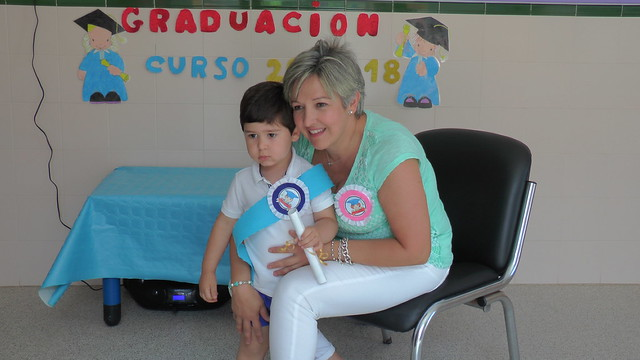 Graduación de los niños y niñas de infantil