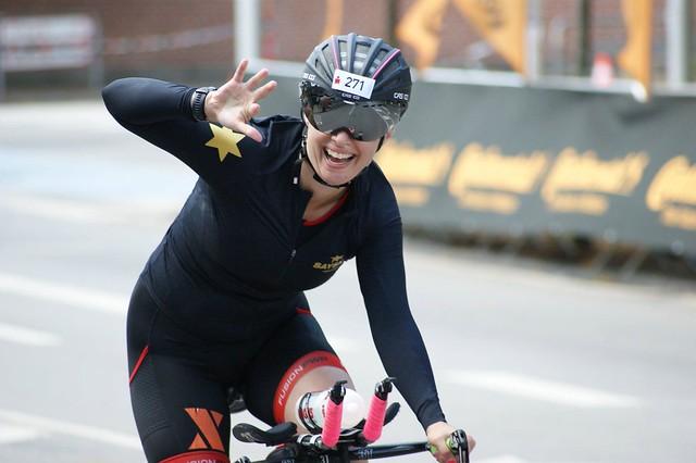 færdig med triatlon?