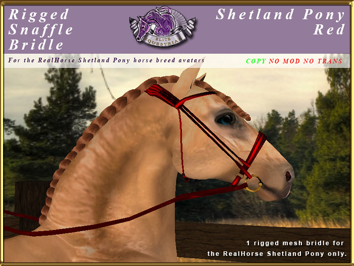 e-rh-Shetland-SnaffleBridle-Red - TeleportHub.com Live!