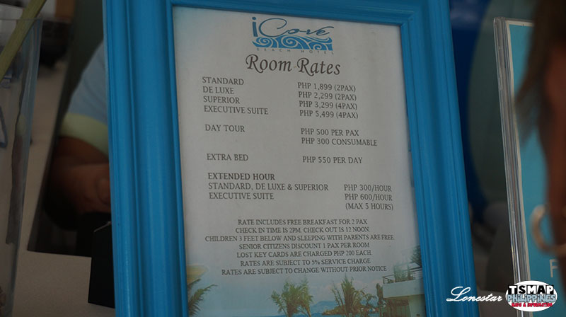 iCove Beach Hotel Room Rate