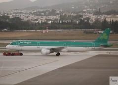 Aer Lingus A321-211 EI-CPE pushing back at AGP/LEMG
