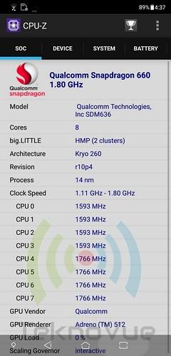 ASUS Zenfone 5 - CPU-Z CPU