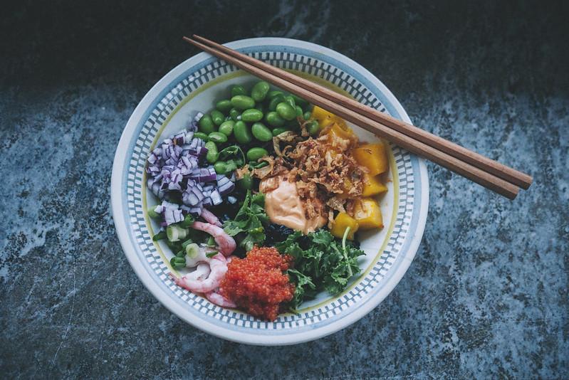 bowl med svart ris
