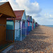 Beach huts in Herne Bay, Thames estuary  -  (Selected by GETTY IMAGES)