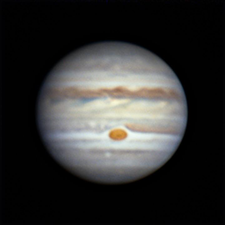 木星 (2018/7/15 20:49-20:55) (20:52, 3x de-rotation)