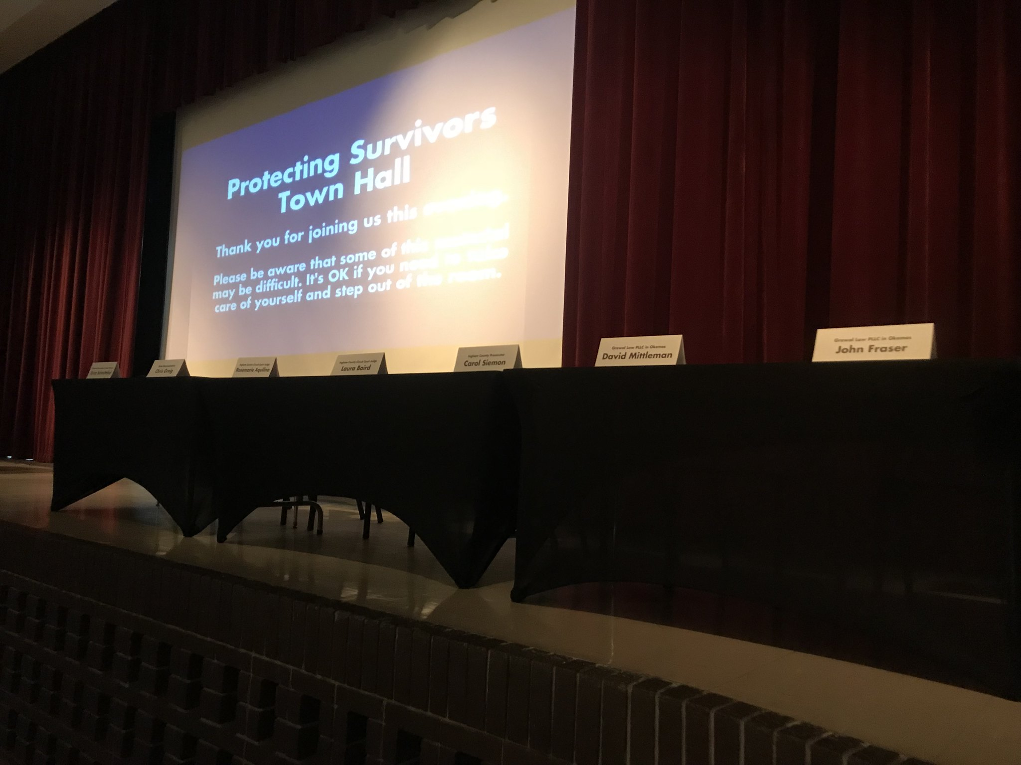 Town Hall on Protecting Sexual Assault Survivors