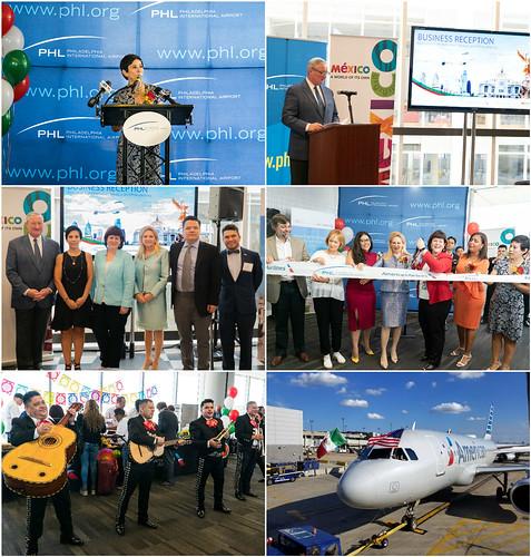 Promoción de México en ocasión del vuelo directo entre la Ciudad de México y Filadelfia