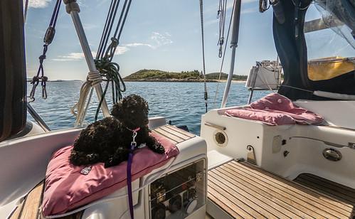 Litt avslapping i båten før neste tur