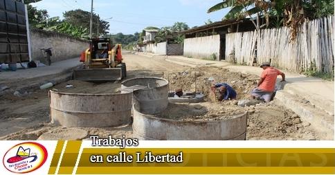 Trabajos en calle Libertad