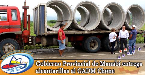 Gobierno Provincial de Manabí entrega alcantarillas al GADM Chone