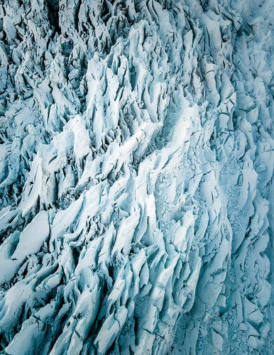 Falljökull Glacier aerial - Jonny Livorti. From Visiting Iceland: All you need to know about glaciers