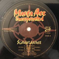MASTA ACE INCORPORATED:SLAUGHTAHOUSE(LABEL SDE-A)