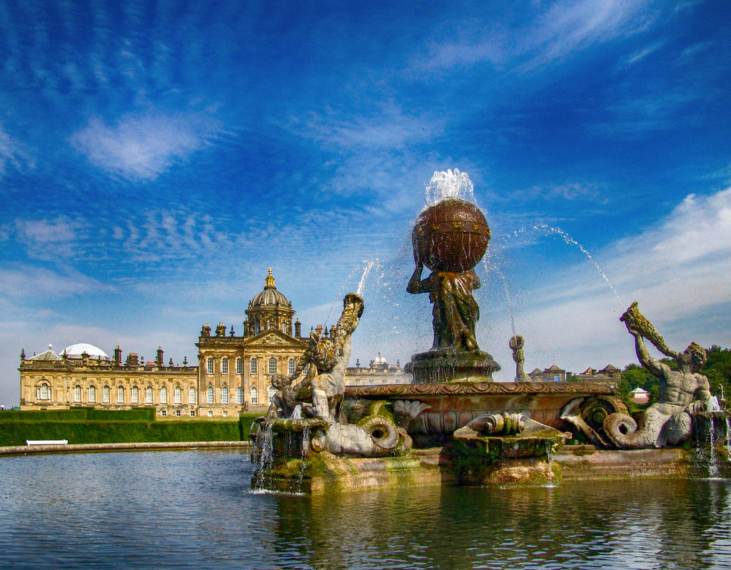 The Atlas Fountain at Castle Howard. Credit Tilman2007