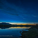 Noctilucent Clouds with Cassiopeia over Waterton River by Amazing Sky Photography