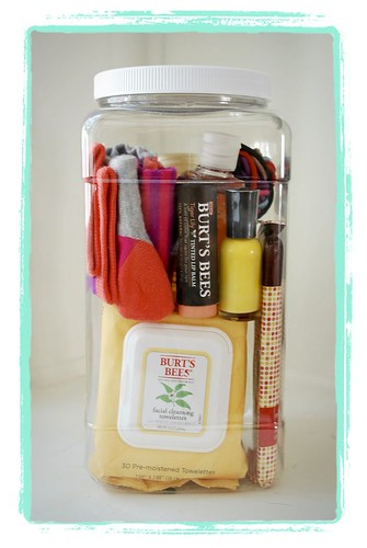 Gift Wrapping Ideas: baby shower gift – hospital survival kit …I would change nail polish to mini h…